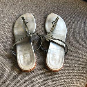 Stuart Weitzman rhinestone crystal sandals shoes